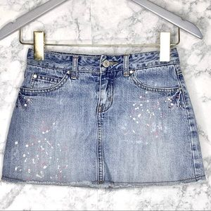 GIRLS LIMITED TOO Jewel Denim Skirt With Shorts
